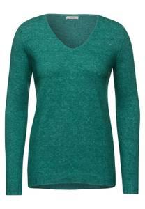 CECIL Damen Kuscheliger Strick-Pullover in Grün