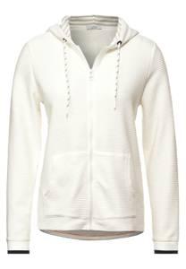 CECIL Damen Ottoman-Shirtjacke in Weiß