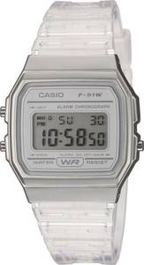 CASIO Casio Collection Chronograph »F-91WS-7EF« weiß / silber / grau / transparent