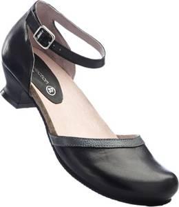 Bequeme Pumps aus Leder in schwarz für Damen von bonprix