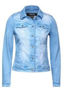 CECIL Damen Denim Jacke im Colour Style in Blau