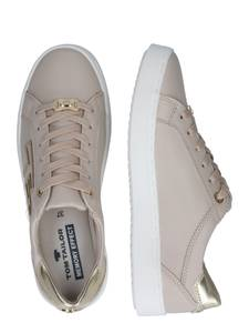TOM TAILOR Sneaker beige / gold