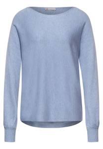 Effen trui - seaside blue melange