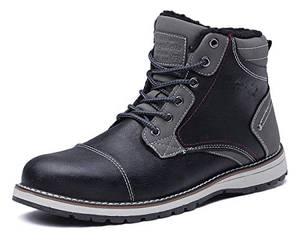 AX BOXING Winterschuhe für Herren Schuhe Winter Winterstiefel Arbeitsstiefel Schneestiefel Schneeschuhe (44 EU, A7302-Negro)