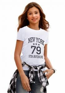 ARIZONA T-Shirt mit Frontdruck für Mädchen weiß