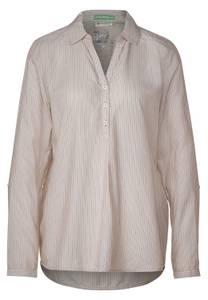 Street One Damen Hemdbluse mit Streifen in Braun,Weiß