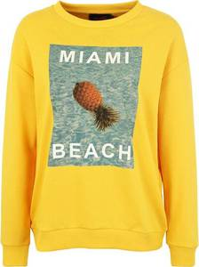 Miss Goodlife Sweater Miami Beach gelb / mischfarben
