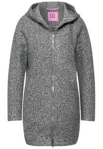Outdoorjas in melange look - frost grey melange