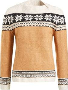 khujo Pullover '' LISOL '' beige / cognac