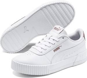 PUMA Carina RG Wn''s Dames Sneakers - Puma White-Puma White-Rose Gold - Maat 37