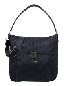 COMMA Hobo Bag mit Allover-Print dunkelblau
