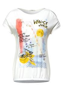 T-shirt met print - pure off white