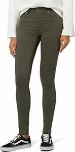 Amazon-Marke: find. Shorts Damen Jeansshorts Hotpants mit 5-Pocket-Design, Grün (Khaki Khaki), 26W / 32L, Label: 26W / 32L
