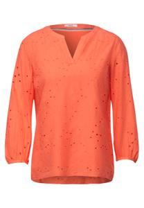 CECIL Damen Bluse mit Stickerei in Orange