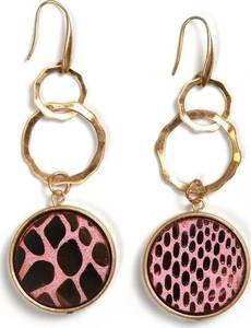 COLLEZIONE ALESSANDRO Ohrringe gold / rosa / braun