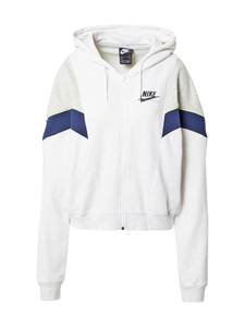 Nike Sportswear Sweatjacke ''Heritage'' offwhite / schwarz / navy / hellgrau / gelb