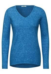 CECIL Damen Kuscheliger Strick-Pullover in Blau