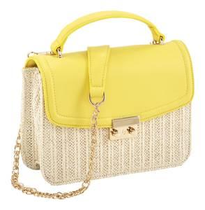 heine Tasche gelb / weiß