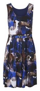 heine Kleid blau / weiß / schwarz / braun
