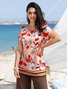 Shirt MIAMODA Rosé/Multicolor