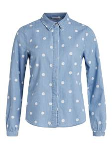 VILA Bluse ''Fanzi'' blue denim / weiß
