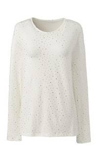 Gemustertes Shirt aus Baumwoll/Modalmix, Damen, Größe: S Normal, Elfenbein, by Lands'' End, Elfenbein Sterne