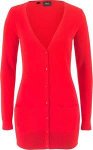 Basic Feinstrick-Jacke langarm  in rot für Damen von bonprix