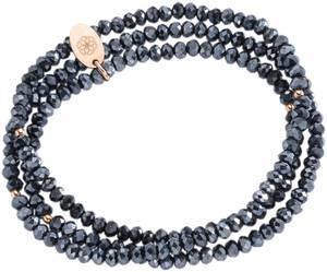 FIRETTI Armband zum Wickeln mit Kristallsteinen dunkelblau / rosegold