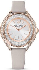 Swarovski Uhr grau / rosegold / silber / transparent