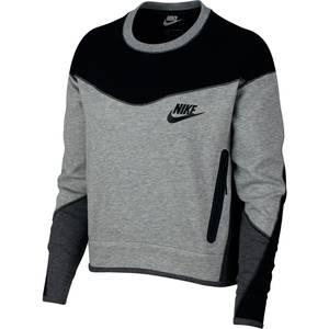 Nike Sportswear Sweatshirt NSW Tech graumeliert / schwarz
