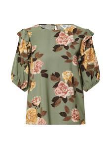 OBJECT Bluse ''ROSE'' dunkelgrün / mischfarben