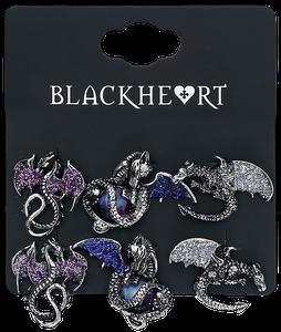 Blackheart Dragon Earrings Ohrstecker-Set