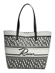 River Island Shopper schwarz / weiß