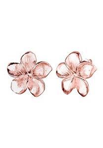 Elli Ohrringe Damen Frangipani Blüte Natur Blume Filigran in 925 Sterling Silber