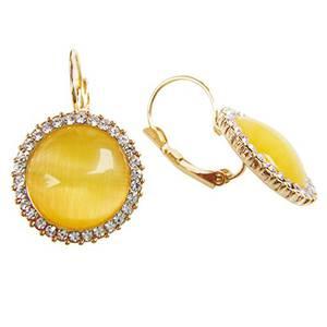 Navachi - Basismetall, vergoldet mit 18 kt Rundschliff gelb Opale