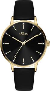 s.Oliver Uhr schwarz / gold