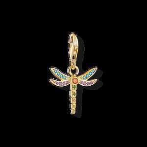 THOMAS SABO Charm-Anhänger Libelle champagner 1758-974-7