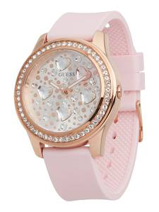 GUESS Uhr ''HEARTBEAT,'' rosa / silber / gold