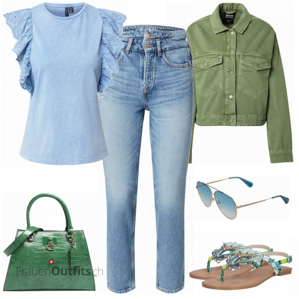 Farbenfroher Sommerlook FrauenOutfits.ch