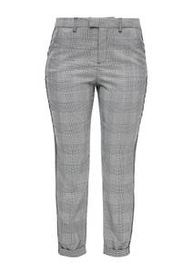 Q/S designed by Regular Fit: 7/8-Hose mit Piping grau