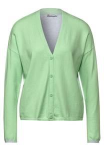 Gebreid vest in colourblock - frosted pistachio