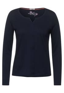 CECIL Damen Shirt mit Rundhals in Blau
