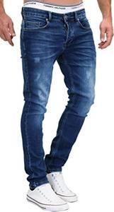 MERISH Jeans Herren Slim Fit Jeanshose Stretch Designer Hose Denim 501 (32-32, 501-1 Dunkelblau)