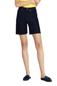 Taillenhohe Jeans-Shorts, Damen, Größe: S Normal, Blau, Baumwolle, by Lands'' End, Tiefes Indigo