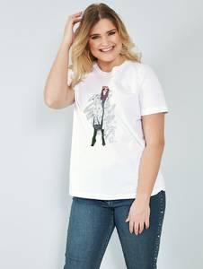 Shirt off-white/blau Sara Lindholm