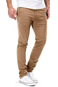 DSTROYED ® Chino Herren Slim fit Chinohose Stretch Designer Hose Neu 505 (32-32, 505 Braun)