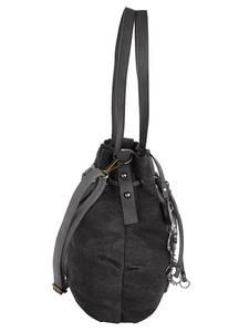 Beuteltasche schwarz/jeans Taschenherz