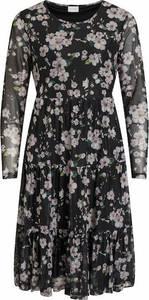 VILA Kleid schwarz / weiß