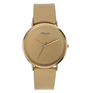 Donna Mae horloge met beige leren band