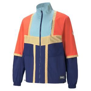 PUMA Jacke ''Court Side'' hellblau / dunkelblau / orange / pastellgelb